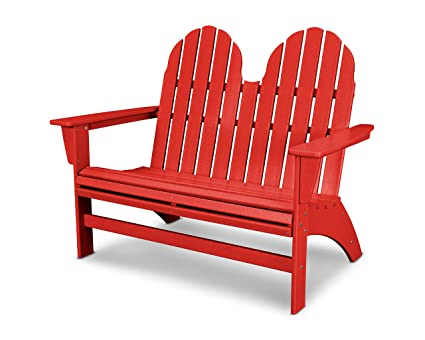 POLYWOOD Vineyard Adirondack Bench (Sunset Red)