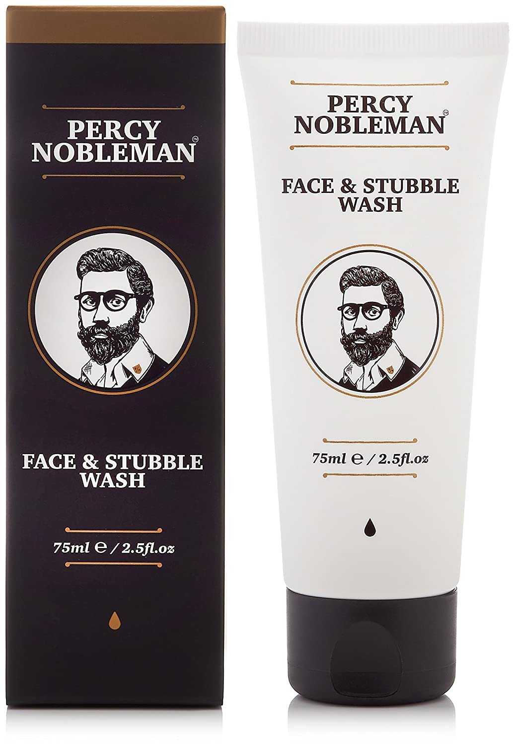 Percy Nobleman Face and Stubble Wash 75 ml. An Invigorating and hydrating Face Wash For Men. 03641