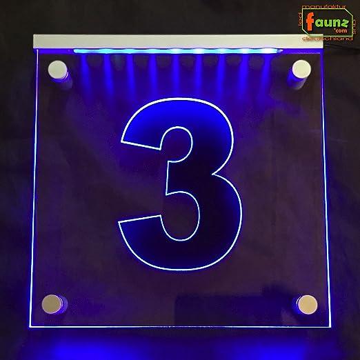 LED Número de Casa Exterior Cartel vía Cartel Orientación