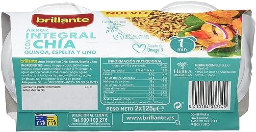 Brillante Arroz Integral Con Chía, Quinoa, Espelta Y Lino 125G X 2 ...