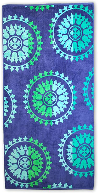 "Superior Luxurious 100/% Cotton Beach Towels Soft Velour... Oversized 34/"" x 64/"""