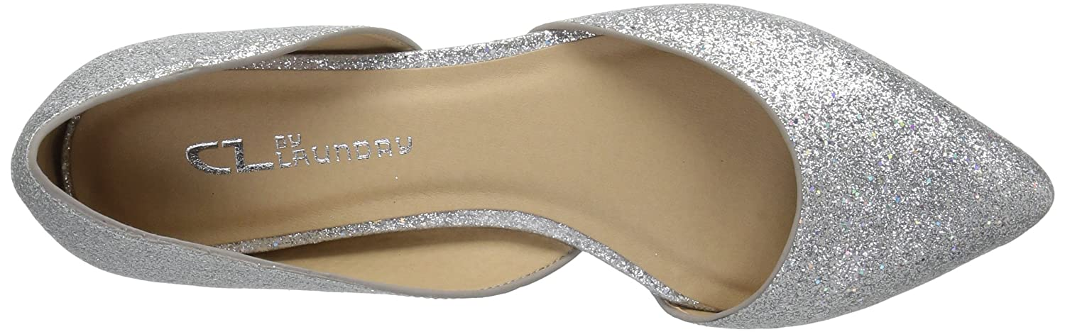 CL by Chinese Laundry Women's Hearty Pointed Toe Flat B074RCJBHJ 8 B(M) US|Platinum Glitter