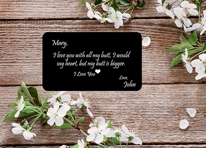 Amazoncom Engraved Aluminum Wallet Funny Love Quotes Or Your Own