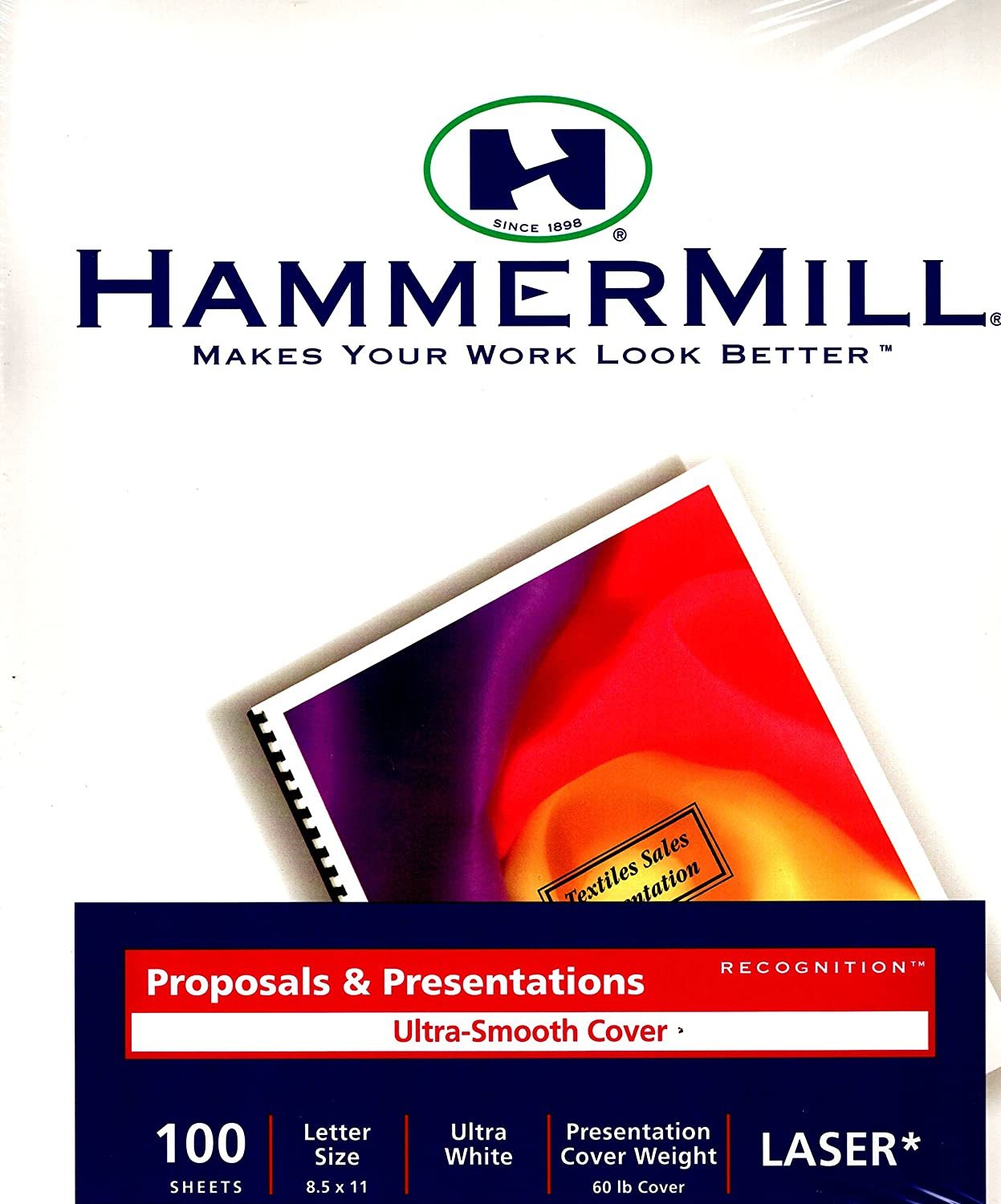 Letter Size 60 lb 100 Sheets Ultra White Cover Laser Hammermill Proposals /& Presentations Ultra Smooth Cover