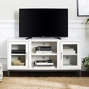 Walker Edison Modern Tv Stand With Storage Cabinets For Tv S Up To 56 Living Room Storage Furniture Decor