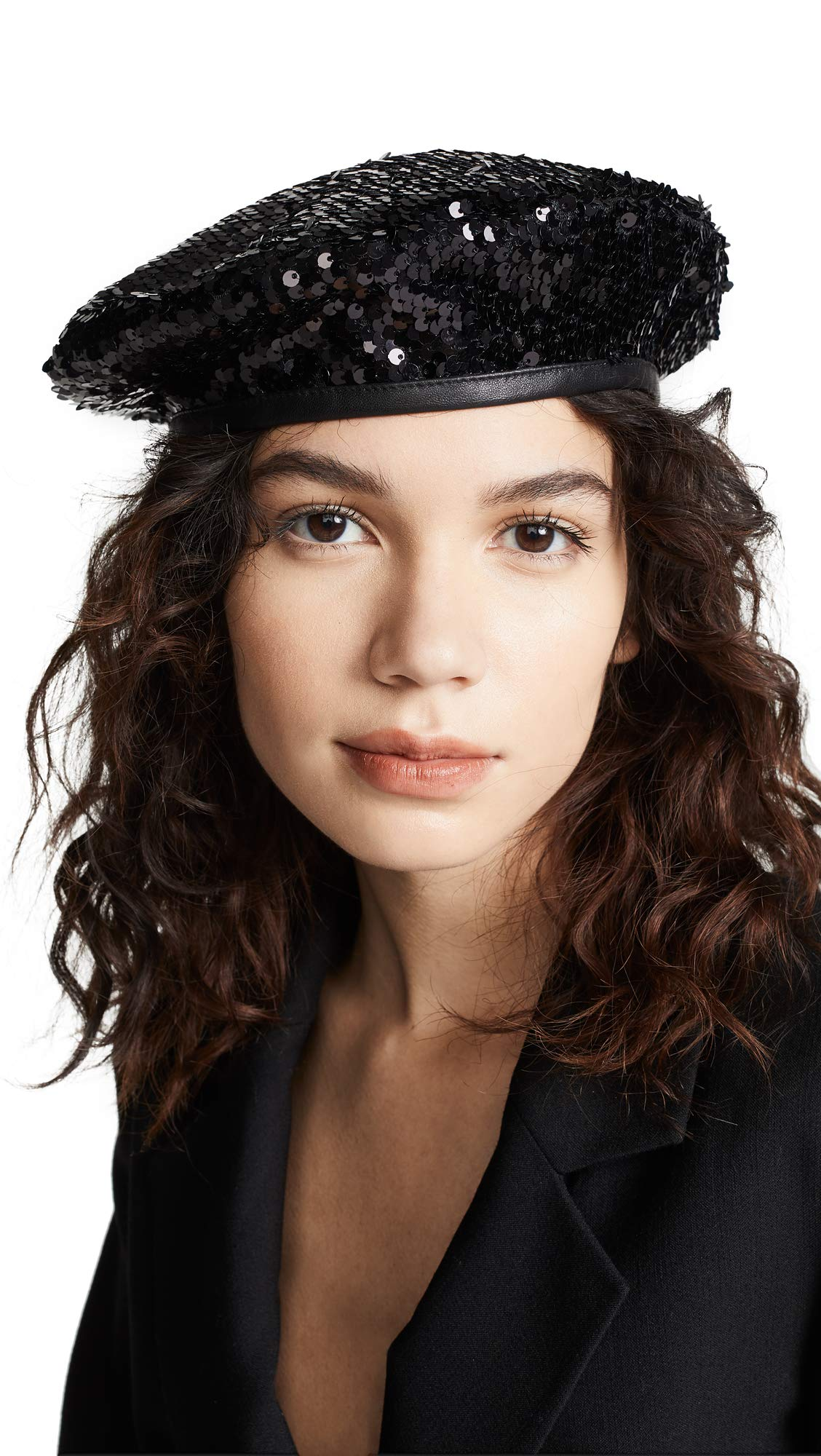 Eugenia Kim Women's Cher Beret Hat, Black, One Size