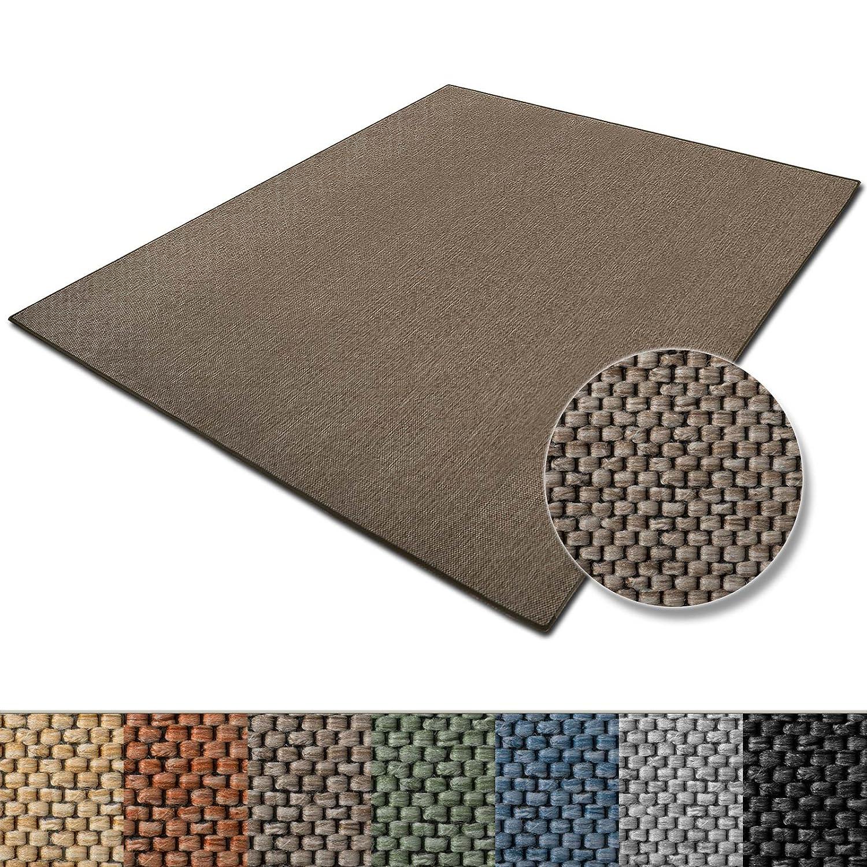 Teppich Sabang | viele Farben und Größen | Flachgewebe, Sisaloptik | Qualitätsprodukt aus Deutschland | GUT Siegel | für Wohnzimmer, Kinderzimmer, Flur etc. (beige, 200x240cm)
