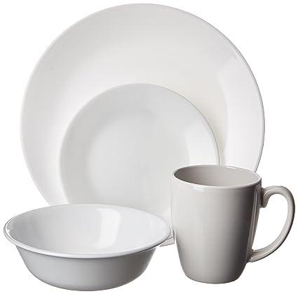 Amazoncom Corelle Livingware 16 Piece Dinnerware Set Winter