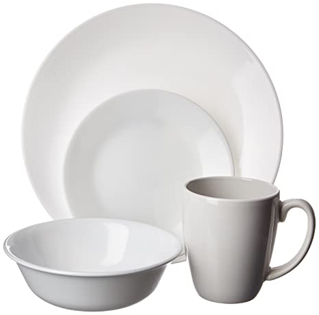 Amazon.com | Corelle Livingware 16-Piece Dinnerware Set, Winter ...