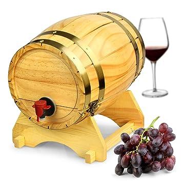 Wooden Wine Barrel Dispenser 5ltr