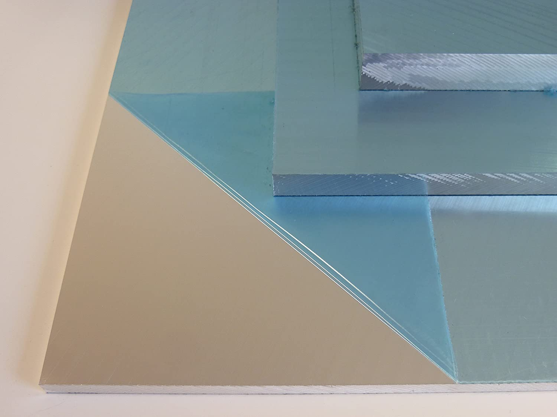10 x 35 cm B/&T Metall Aluminium Pr/äzisionsgussplatte 15,0 mm stark beidseitig feinstgefr/äst und foliert im Zuschnitt Gr/ö/ße 100 x 350 mm