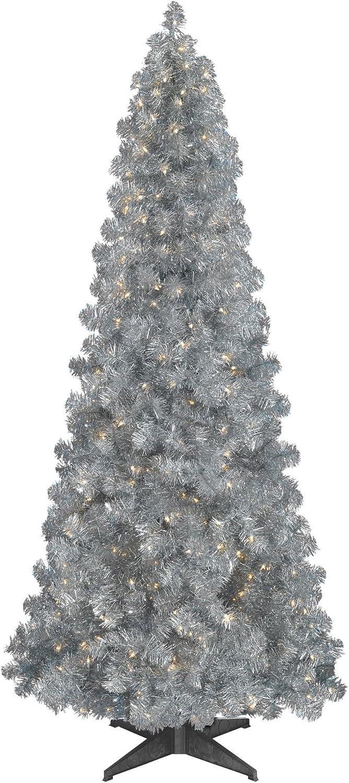 Treetopia Basics - Silver Tree, 7.5 Feet, Clear Lights
