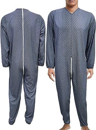 Pijama sanitario para personas mayores, hombre y mujer, de verano, 100% algodón fresco, traje sanitario, fabricado en Italia, pijamas sanitarios