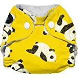 Imagine Baby Products Newborn Stay Dry All-in-One Snap Diaper, Panda Fold