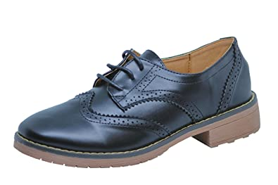 2e805914d28a2 Brauch Women's Black Formal Brogues/Oxford Shoes (36): Buy Online at ...