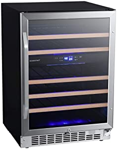 EdgeStar CWR462DZ 24 Inch Wide 46 Bottle Built-In Wine Cooler with Dual Cooling Zones