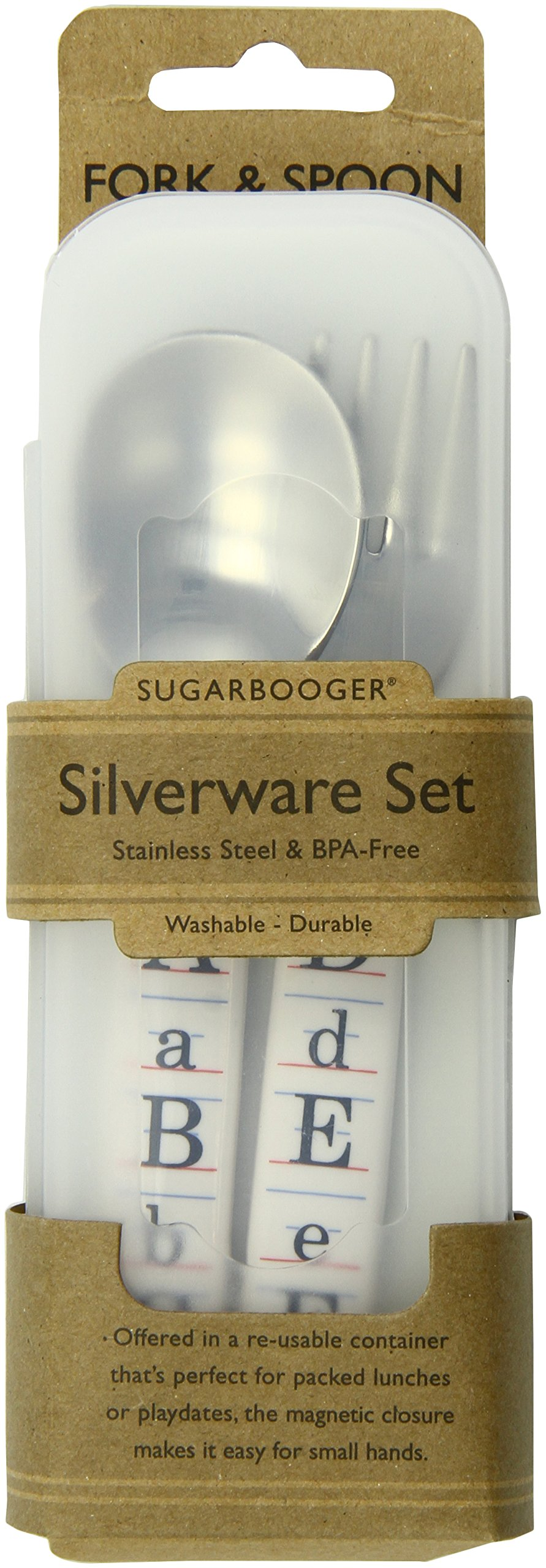 Sugarbooger Silverware Set, Vintage Alphabet