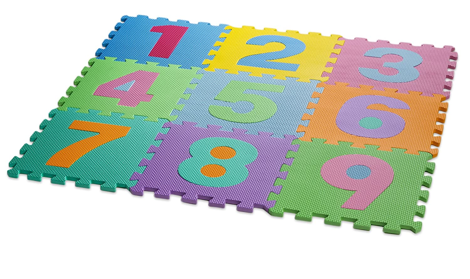HemingWeigh Kid's Multicolored Numbers Puzzle Play Mat Soft and Safe EVA Foam Excellent for Day Care's Play Rooms Baby Rooms and playgrounds