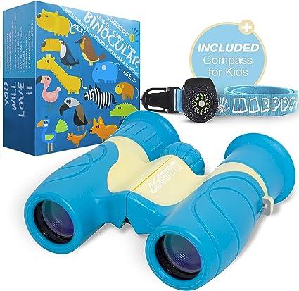 Tbest Birding Telescope Set Ni/ño Kid Outdoor Birding Binocular Children Telescope Set con Br/újula Juguete de Regalo