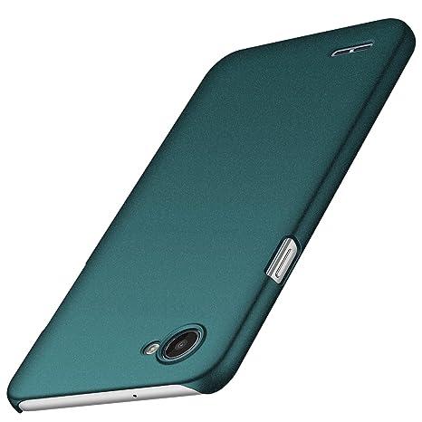 anccer Funda LG Q6 [Serie Colorida] [Ultra-Delgado] [Ligera] Anti-rasguños Estuche para Case LG Q6 (Grava Verde)
