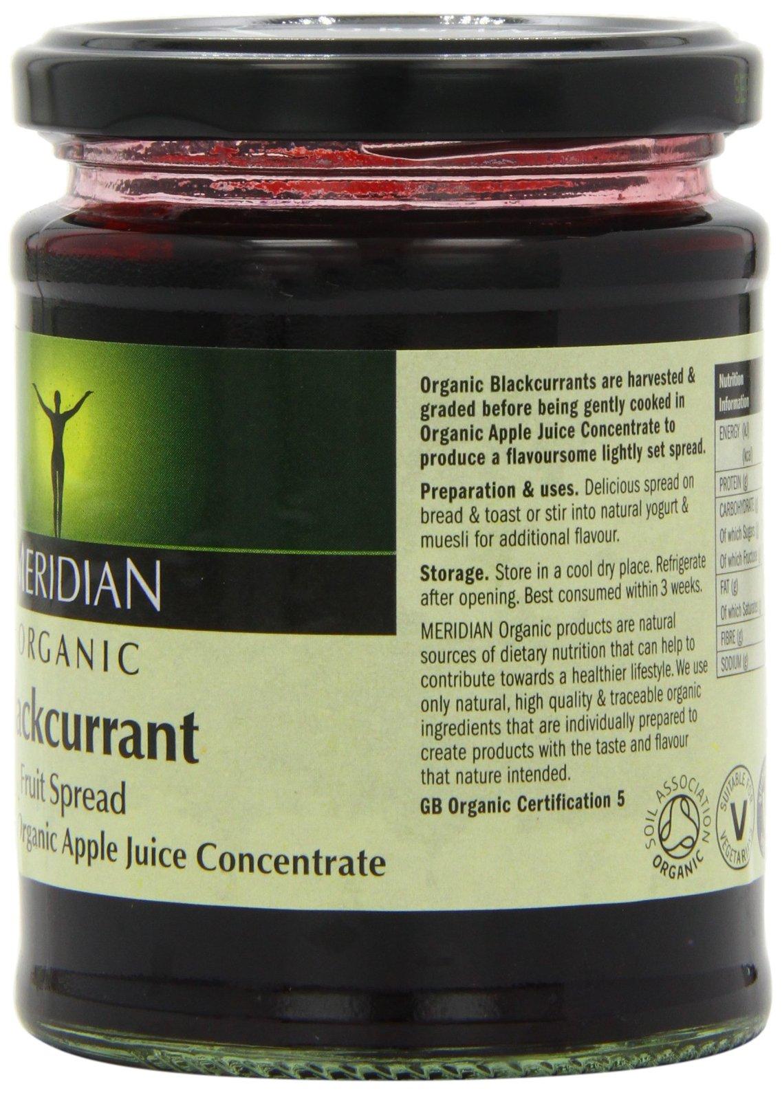 Meridian Organic Blackcurrant Fruit Spread 284 g (Pack of 6) by Meridian (Image #3)