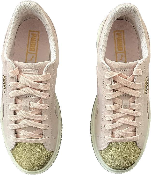 PUMA Chaussure Suede Platform Glam Rose Taille 37 (EU