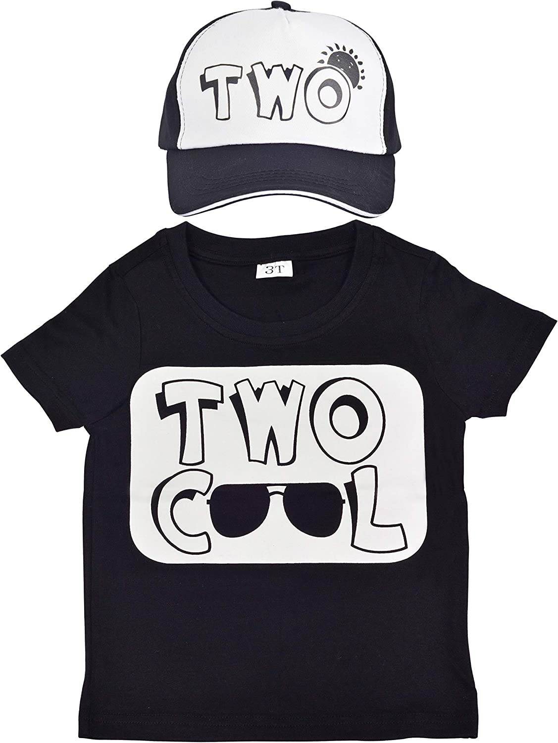 2nd Birthday T Shirt and Hat, Two Cool Birthday Shirt, Trucker Hat for Kids with Two Cool, 2nd Birthday Two Cool Shirt Boy, 2 Year Old Birthday Shirt Boy, Happy Birthday Shirt for 2 Year Old Boy,