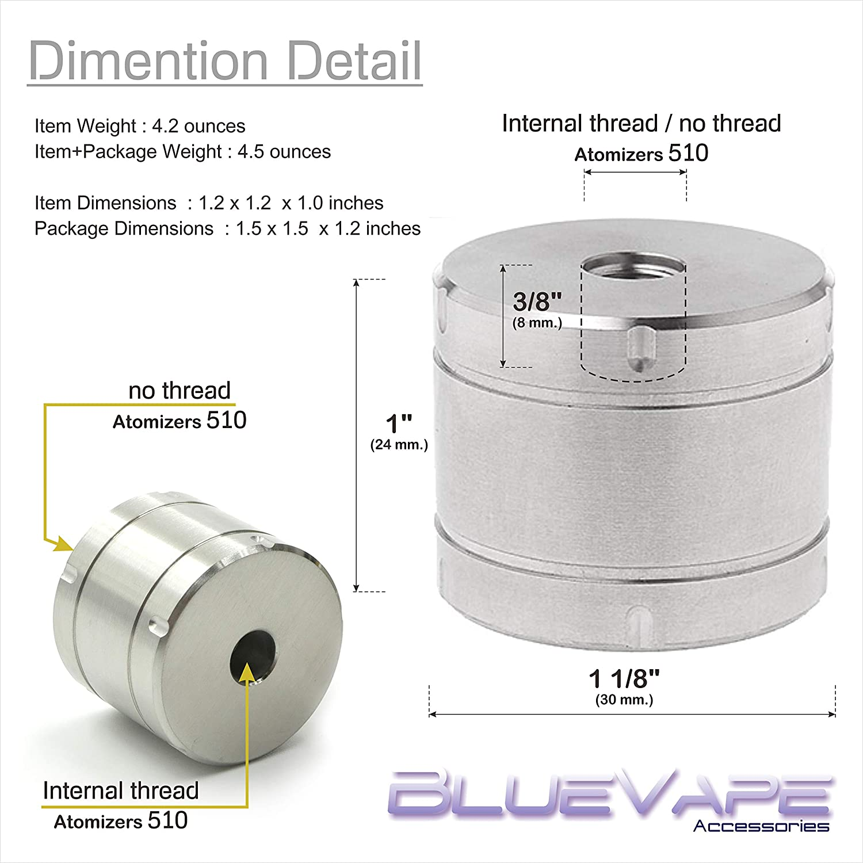 DIY Atomizer RDA BLUEVAPE Stand Base Holder Metal Stainless Steel for 510 Thread Atomizers RBA RDTA Holder