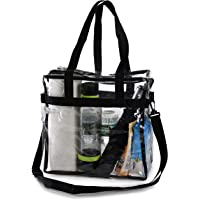 c06be912a4 Clear Tote Bag NFL Stadium Approved - Shoulder Straps and Zippered Top.  Perfect Clear Bag