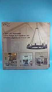 DSI Lighting 8 Light LED Chandelier in Dark Bronze
