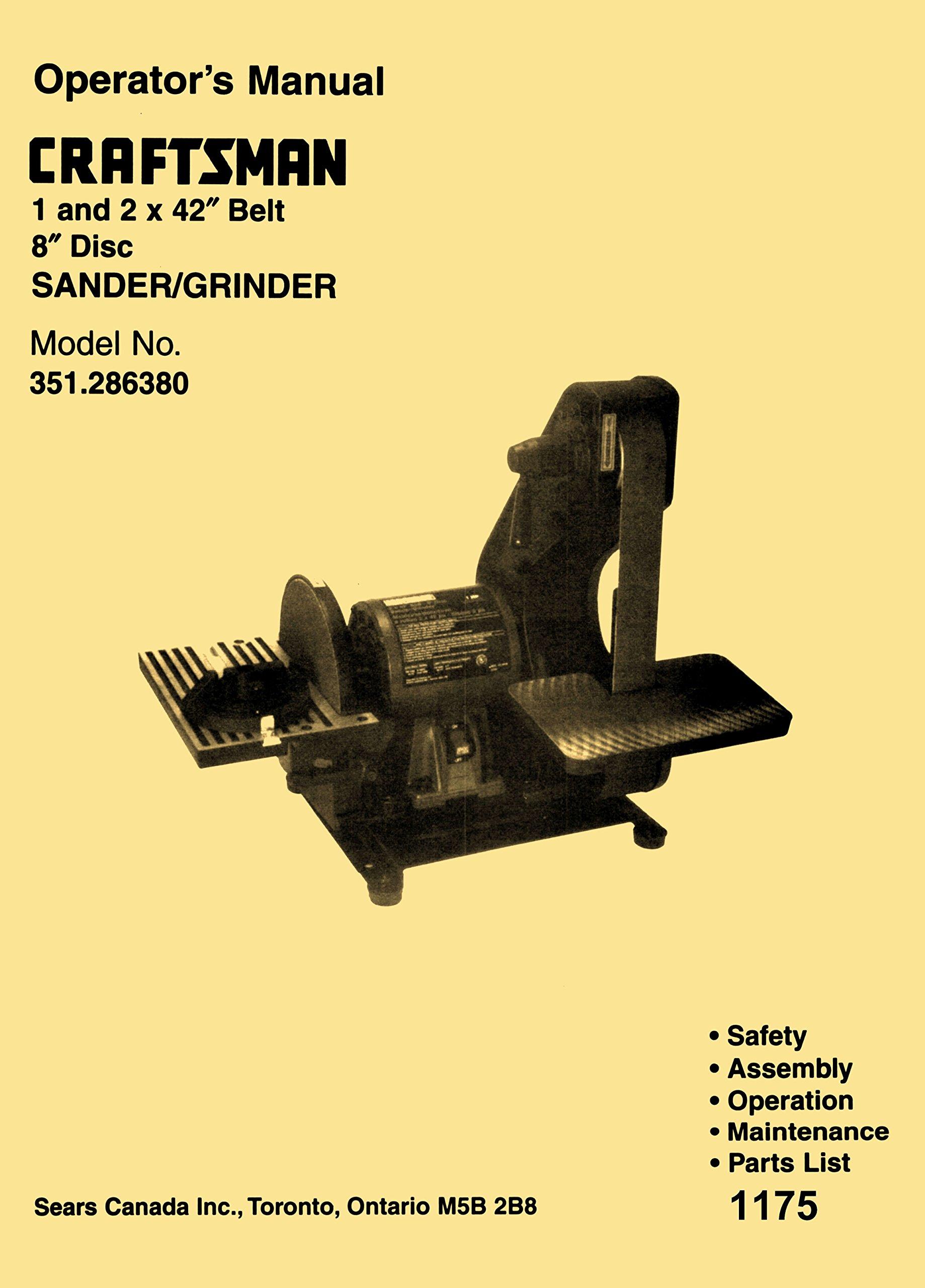 Craftsman 351.286380 1