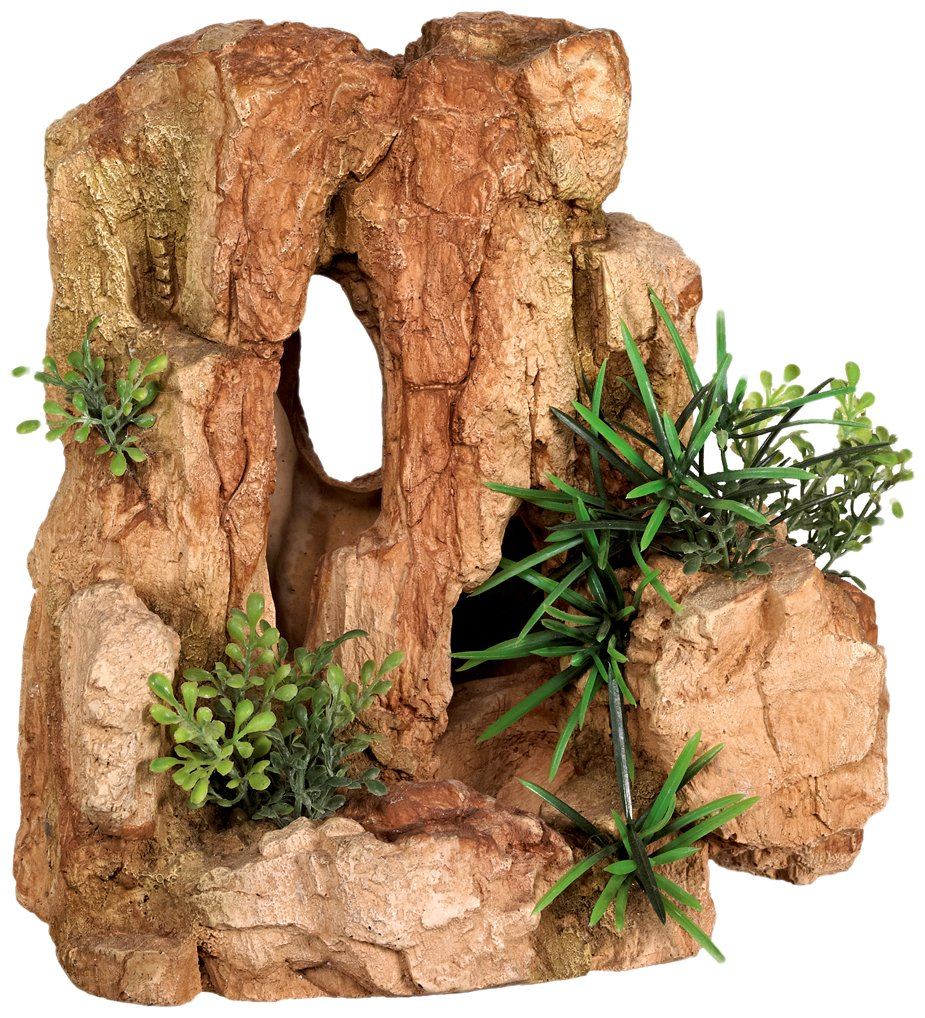 Nobby Rock with Plants Aquarium Ornaments, 22 x 16.3 x 22 cm
