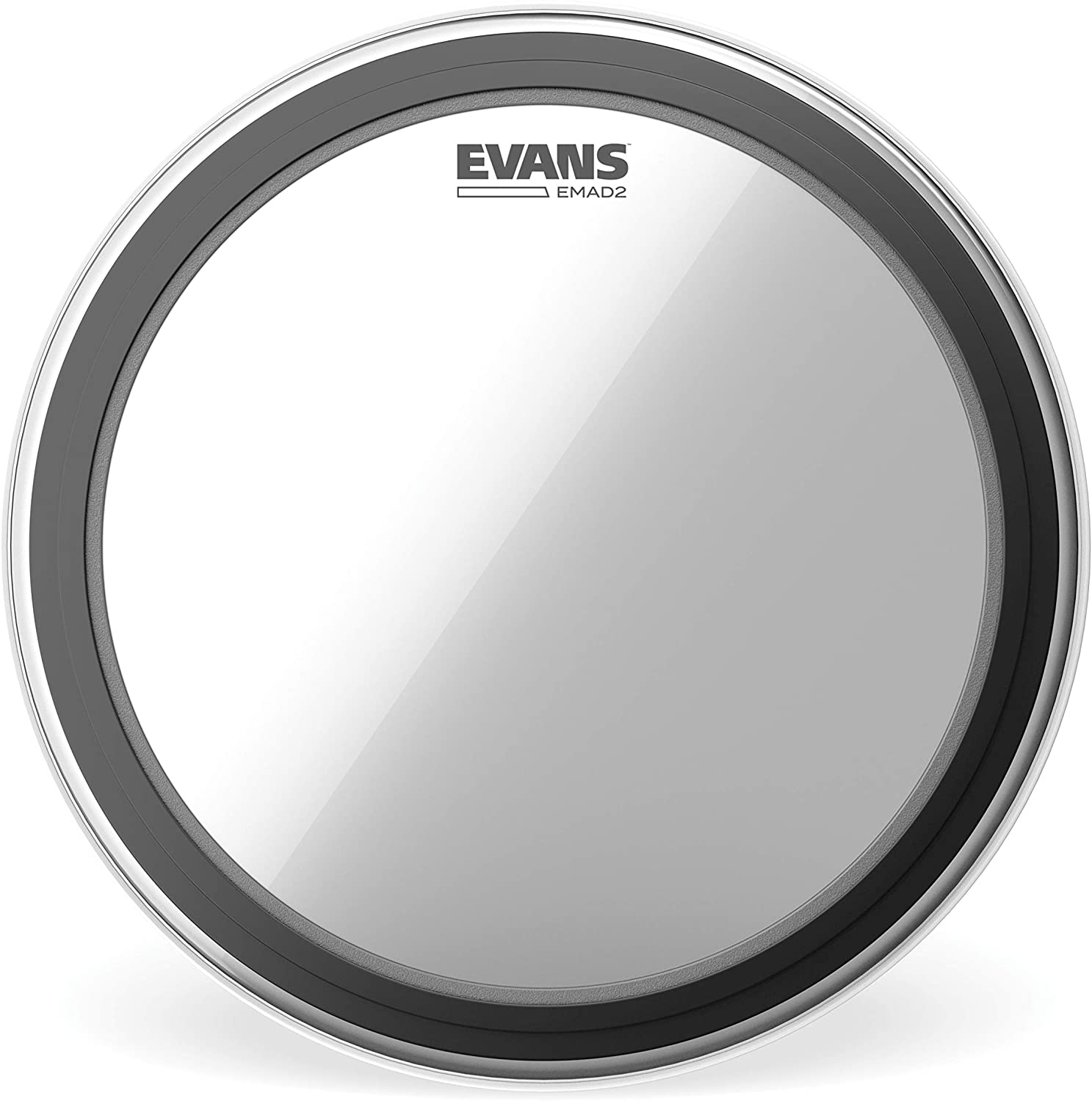 Evans EMAD2 Clear Bass Drum Head, 22 – Externally Mounted Adjustable Damping System Allows Player to Adjust Attack and Focus – 2 Foam Damping Rings for Sound Options - Versatile for All Music Genres 81P9ppTvsWL