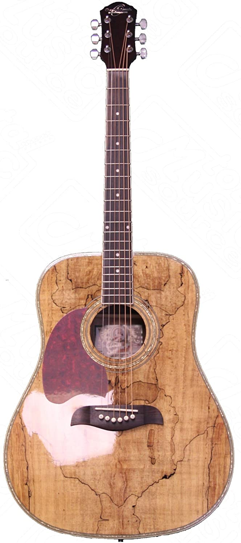 Oscar Schmidt OG2SMLH Acoustic Guitar - Spalted Maple Left Handed
