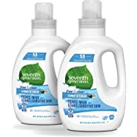 2-Pack Seventh Generation 4X Laundry Detergent & Clear Unscented (40 Fl Oz)