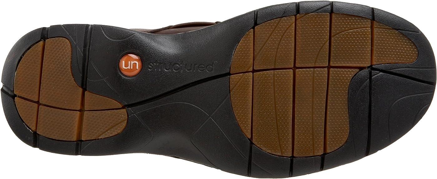 Clarks Unstructured Men/'s Un.Bend Casual Oxford Black Leather Size 9.0