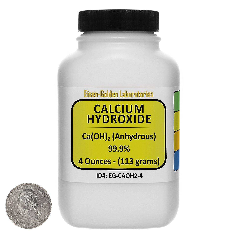 Calcium Hydroxide [Ca(OH)2] 99.9% ACS Grade Powder 4 Oz in a Space-Saver Bottle USA