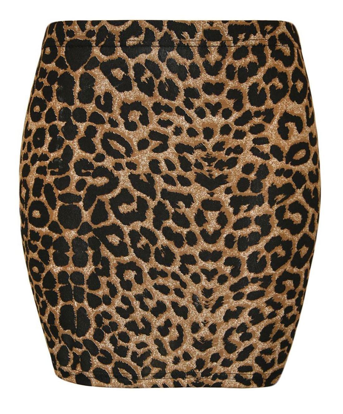 Rimi Hanger Ladies Printed Jersey Mini Skirt Bodycon S/XXXL