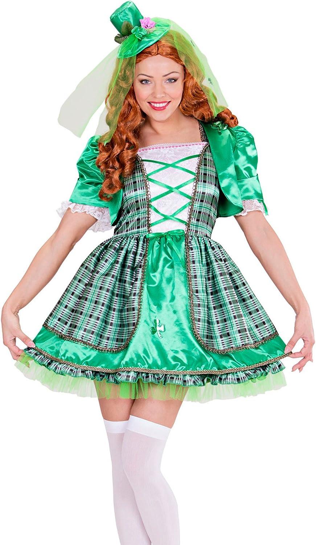 WIDMAN Chica irlandés Adultas - Disfraz - Grande - Tamaño - 42-44 ...