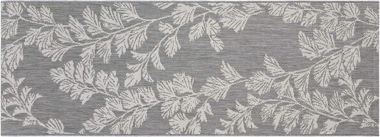 Gertmenian 41378 Deluxe Patio Carpet Outdoor Rug Laura Ashley, 2x6 Runner, Waxham Gray Cream