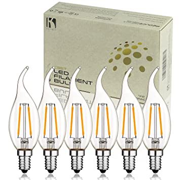 Keymit New C35T 2W UL-E492997 Chandelier LED Bulbs - Dimmable with ...