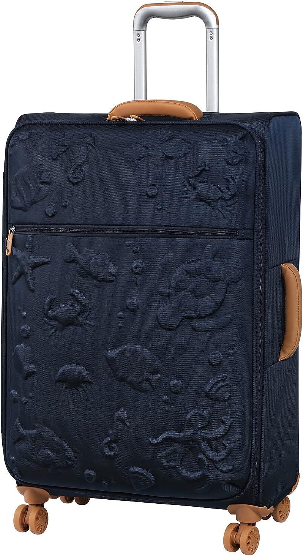 it luggage Aquatic 8 Wheel Lightweight Semi Expander Suitcase Medium Maleta, 70 cm, 90 Liters, Azul (Black Iris)