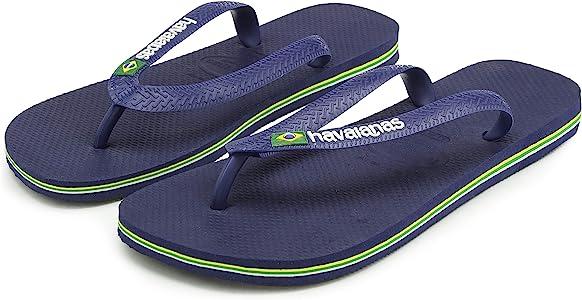 Havaianas Chanclas Hombre/Mujer Brasil, Azul (Azul Marino), 41 EU - 46 EU: Amazon.es: Zapatos y complementos