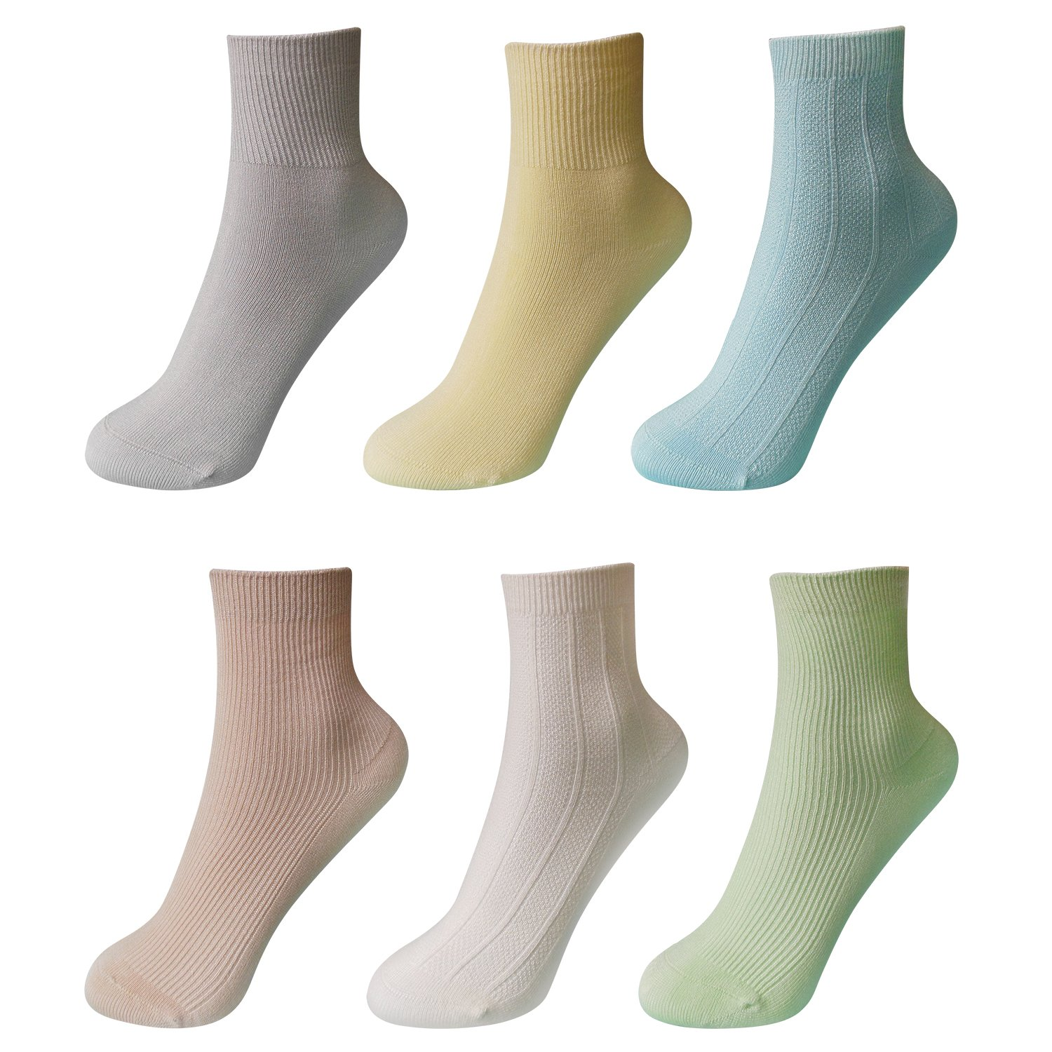 6 Pairs Of Children's Non-slip Toddler Socks, Wood Fiber Soft Phospholipid Skin-friendly Anti-slip socks, The Present For Child, (0-1 Y, 1-3 Y, 3-6 Y) Suitable For Boys and Girls.