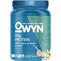 OWYN Only What You Need 100 Percent Vegan Plant-Based Protein Powder, Smooth Vanilla, Dairy-Free, Gluten-Free, Soy-Free…