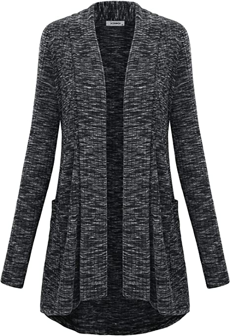 JCZHWQU Womens Casual Open Front High Low Cardigan Sweaters with Pockets