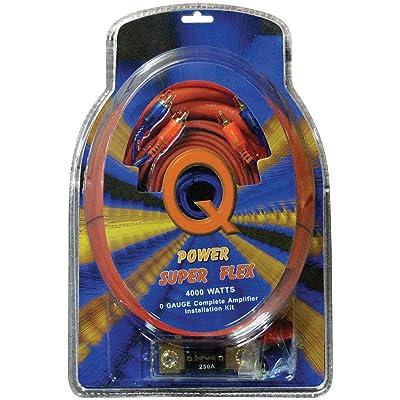 Qpower 0 Gauge Amp Kit Super Flex - 0GAMPKITSFLEX: Automotive