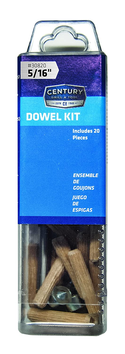Century Drill and Tool 30820 Doweling Kit 5//16-Inch
