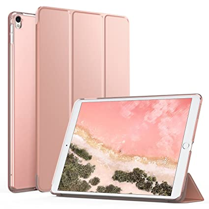 new style 2f0a9 51d0d MoKo Case for New iPad Pro 12.9 2017 - Slim Lightweight Smart-shell Stand  Cover with Translucent Frosted Back Protector for Apple New iPad Pro 12.9  ...