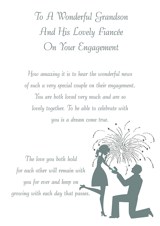 Grandson /& Fiancee Engagement Card